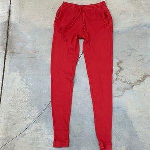 NWT Brandy Melville John Galt Red Thermal Joggers